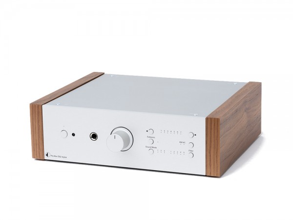Pro-Ject Pre Box DS2 Digital Silber / Walnut
